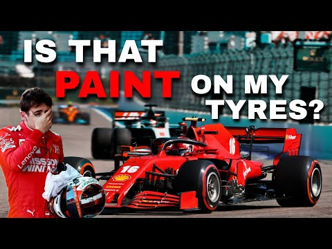 Video | Leclerc full team radio about weird paint on the tyre!