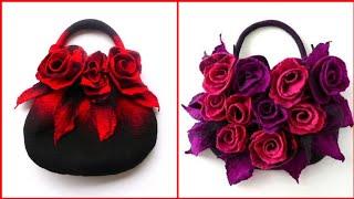 Fascinating Incredible Beautiful  Floral Leather Handbags Designs