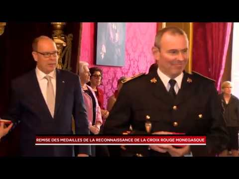 Presentation of Monaco Red Cross Medals of Recognition by H.S.H. Prince Albert II