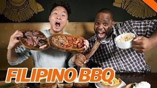 BEST FILIPINO BBQ IN L.A. w/ DAYM DROPS - Fung Bros Food