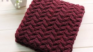 How To Knit A Scarf 5# ( Engsub )