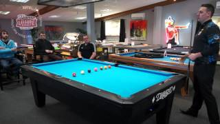 45-degree rule for center-of-table position routes in pool