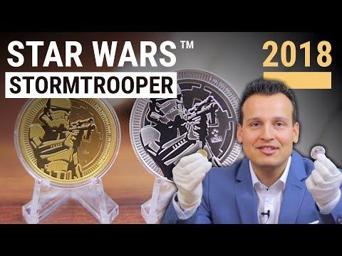 Star Wars Stormtrooper 2018 ⭐ Münzen in Gold und Silber