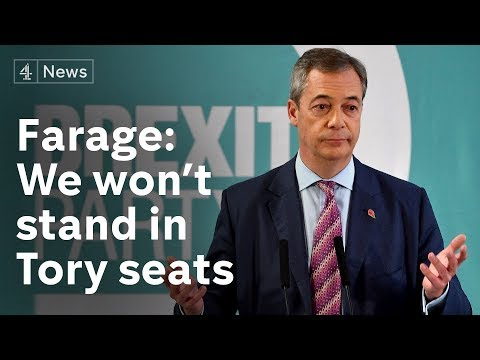 Farage Speech: Brexit Party won't stand in 317 seats Tories won in 2017