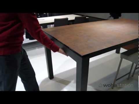 Ausziehbarer Tisch Enix von Mobliberica mit Kratzfester Keramik Tischplatte