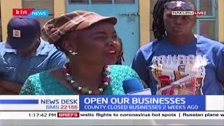 Barbers, hairdressers in Nakuru county stage protest demanding for-opening of their businesses