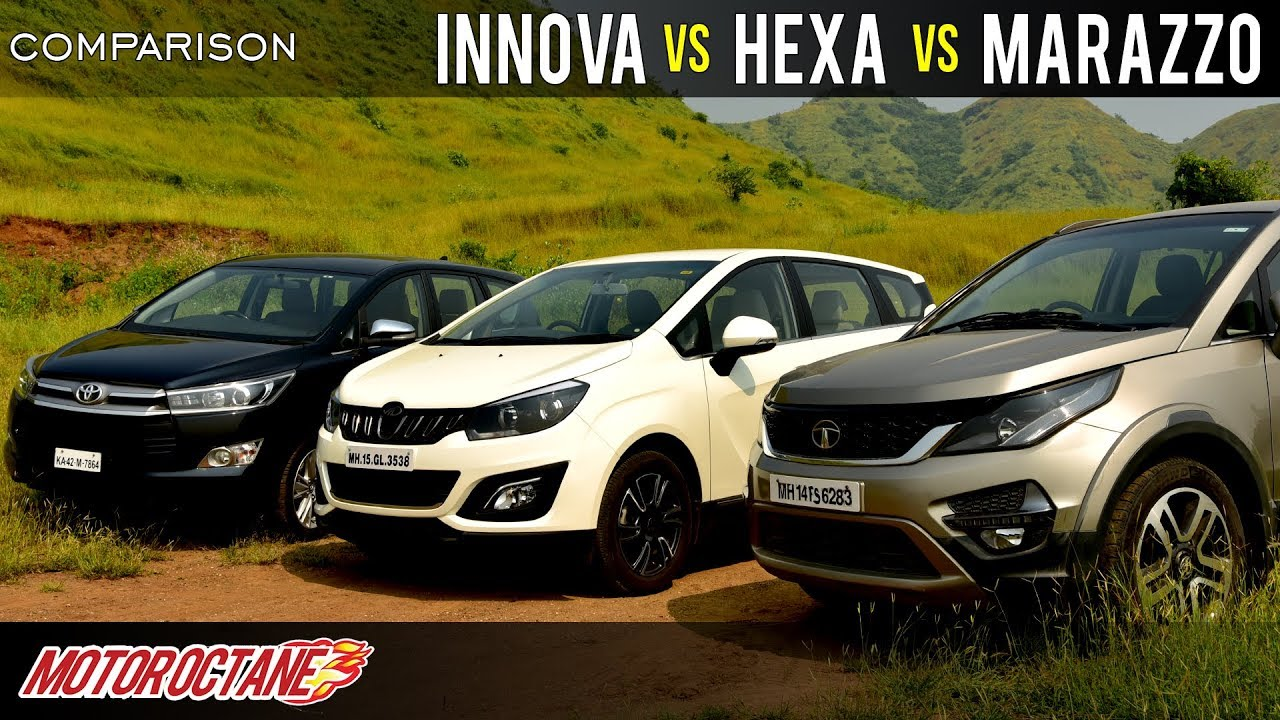 Motoroctane Youtube Video - Mahindra Marazzo vs Tata Hexa vs Toyota Innova Crysta Comparison | Hindi | MotorOctane
