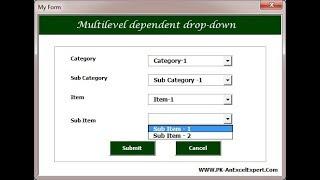 VBA: Multilevel dependent drop-down in User Form