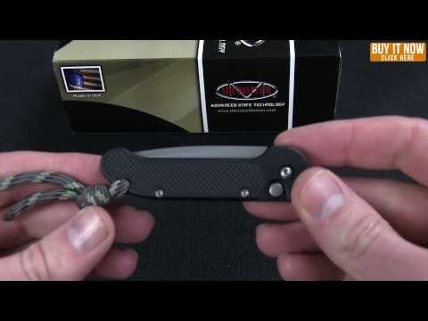 "Microtech Mini UDT Automatic Knife (2.38"" Black Plain) 155-1"