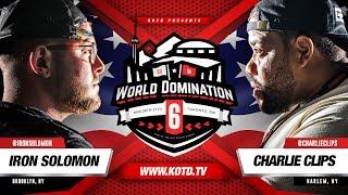 KOTD - Rap Battle - Iron Solomon Vs Charlie Clips | #WD6ix