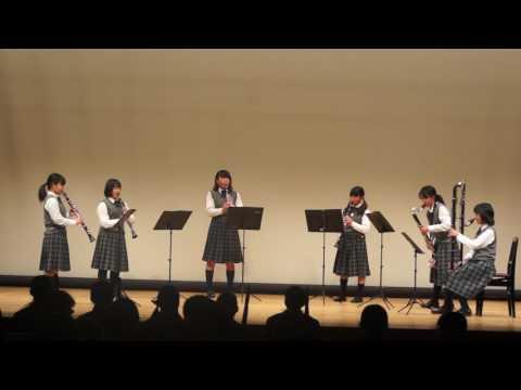 20170211ひとまるアンコン中ホール12・魚住東中学校ークラリネット6重奏