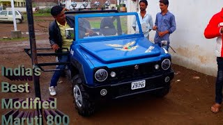 India's Best modified 800 | Modified maruti 800 to jimmy look | Amazon toy car | MAGNETO11