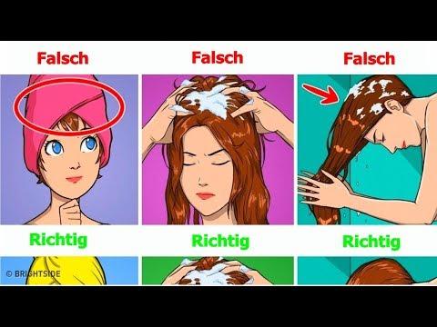 Die Maske des Haares aus dem Senf