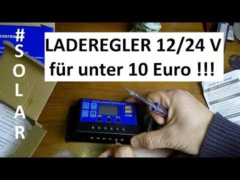 SOLAR LADEREGLER unter 10 EURO TOP PREIS LEISTUNG CE UND ISO 9001