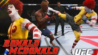 Ronald McDonald Is The Biggest SAVAGE On UFC 3! Funny Fights! EA Sports UFC 3 Online Gameplay