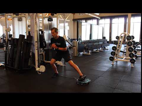 Squat Lateral Cable Lunge