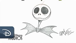How-To Draw Jack Skellington | The Nightmare Before Christmas | Walt Disney World