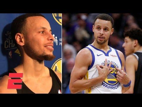Steph Curry on his James Harden stepback impression  | NBA Sound