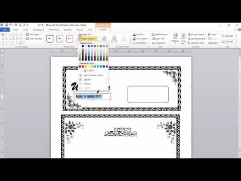 Video Cara Membuat Undangan Kenduri Menggunakan Microsoft Word 2010