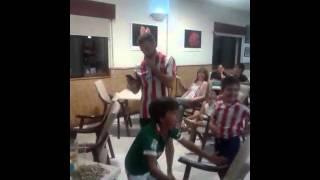 Dario, Fan de  Aduriz, celebra Supercopa