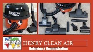 Numatic HVA 160-11 Henry Clean Air Vacuum Cleaner Unboxing & Demonstration