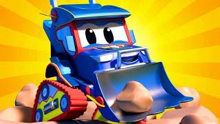 การ์ตูนรถบรรทุกสำหรับเด็ก รถแข่ง & รถปราบดิน ซุปเปอร์ ทรัค ในคาร์ ซิตี้!