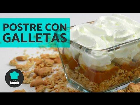 Postre con galletas María y dulce de leche - POSTRE FÁCIL Y RÁPIDO con pocos ingredientes