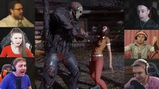 """Реакции Летсплейщиков"" на Гибель из Friday the 13th: The Game"