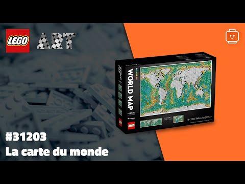 Vidéo LEGO Art 31203 : La carte du monde