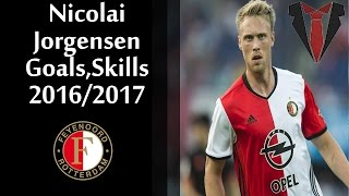 Nicolai Jørgensen | Goals, Skills | First Half | 2016-2017 | Feyenoord Rotterdam (HD)