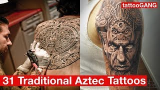 31 Traditional Aztec Tattoos Ideas Gallery