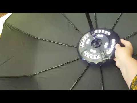 GRDE® Sonnenschirmbeleuchtung 28 led Schirmlicht Lampe Campingleuchte Nachtlicht für Camping Garten