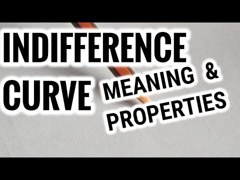 Indifference Curve- Meaning & Properties