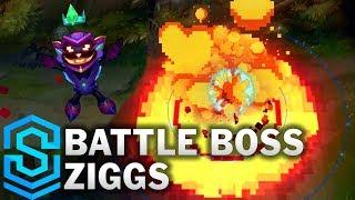 Battle Boss Ziggs Skin Spotlight - League of Legends