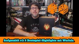 Aufgezählt #3: Top 8 Brettspiel-Highlights mit Würfeln