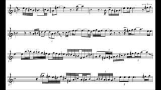 Charlie Parker - My Old Flame - solo transcription
