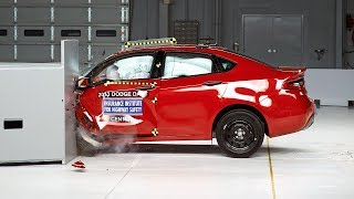 2013 Dodge Dart Driver-side Small Overlap IIHS Crash Test