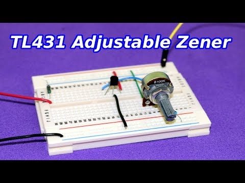 TL431 Adjustable Zener - How to Use it
