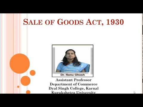 B.Com 2nd Semester - Sale of Goods Act,1930 Part-2
