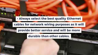 What are the Measures To Be Taken While Installing Network Cabling