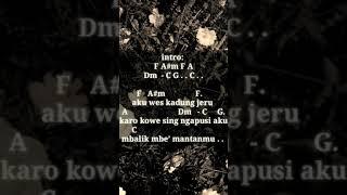 Intan Rahma - Kadung Jeru(chord&lirik)