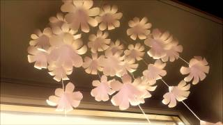 Paper Flower Wall Decoration - DIY Wall Decor ideas - Paper Craft - Paper Flower