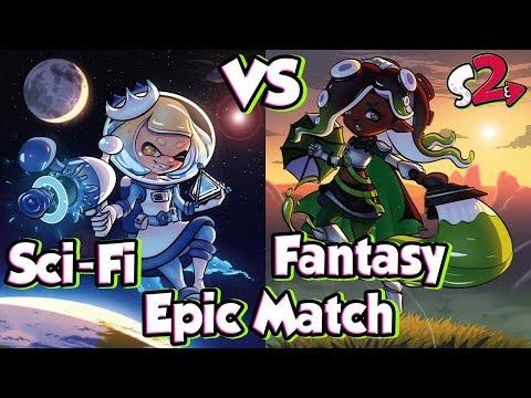 ABM: Splatoon 2 Splatfest Gameplay Match !! Sci Fi Vs Fantasy !! HD
