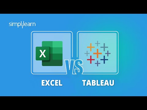 Excel vs Tableau - Which Tool To Use? | Tableau & Excel Difference | Tableau vs Excel | Simplilearn