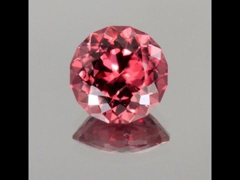 Imperial Zircon Round Portuguese cut 8.00 Carats
