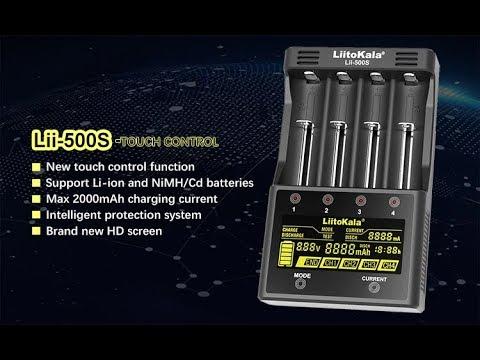 Умное зарядное устройство Liitokala Lii-500S с сенсорным ЖК-дисплеем для работы с аккумуляторами