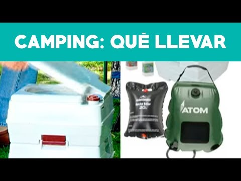 ¿Qué accesorios podemos llevar al camping?