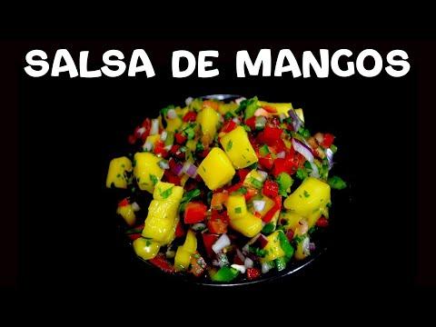 Salsa de mangos para comer con pescado frito o Tacos