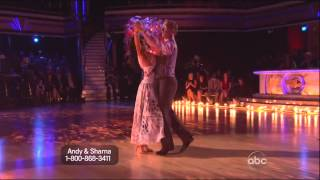 Sharna Burgess & Andy Dick dancing Viennese Waltz on DWTS 4-8-13