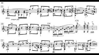 Carlos Jobim - A Felicidade (arr. by Roland Dyens) for Guitar (Score video)